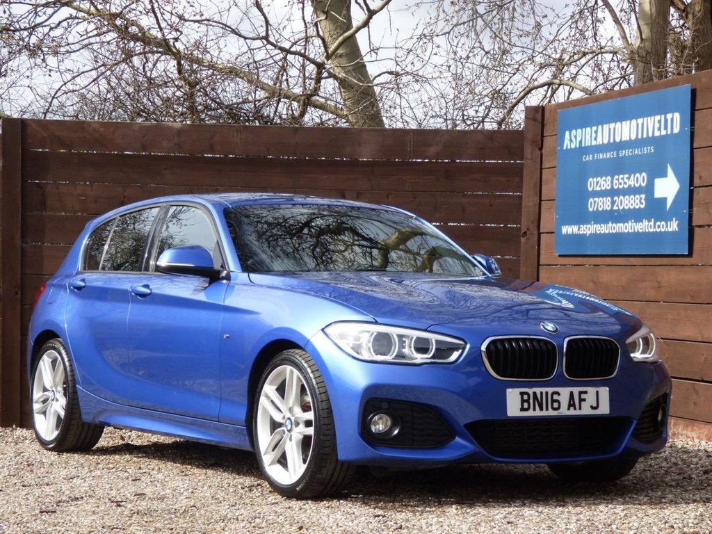 USED 2016 16 BMW 1 SERIES 2.0 120D M SPORT 5d 188 BHP *** M SPORT *** £30 ROAD TAX *** NAVIGATION ***