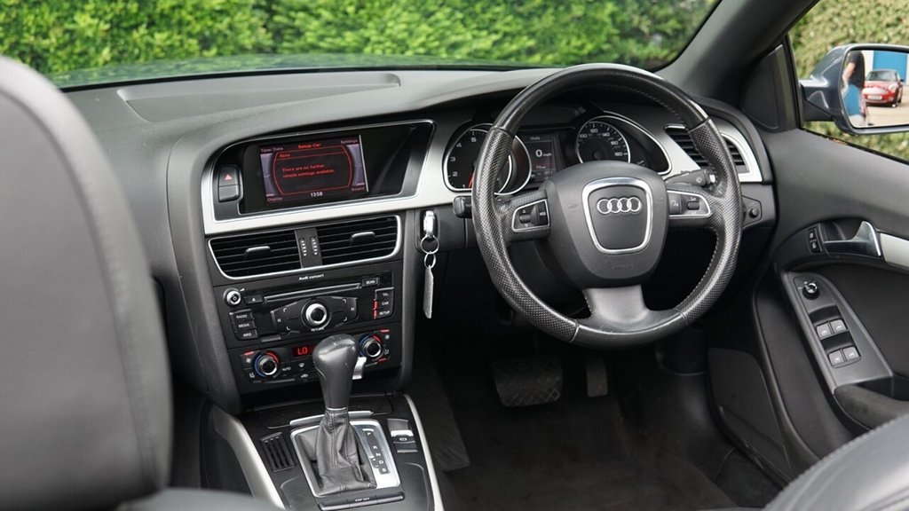 USED 2009 59 AUDI A5 2.0 TFSI SE 2d 208 BHP A STYLISH EXAMLE WITH FULL BLACK LEATHER  AND THE DESIRABLE 19 INCH SPOKE ALLOYS PARKING SEMSORS BLUETOTTH CONNECTIVITY