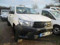 USED 2018 18 TOYOTA HI-LUX 2.4 ACTIVE 4WD D-4D DCB 5d 150 BHP 4x4 Pickup Turbo Diesel Toyota Hilux Crew Cab with the remainder of the Toyota warranty until 2023