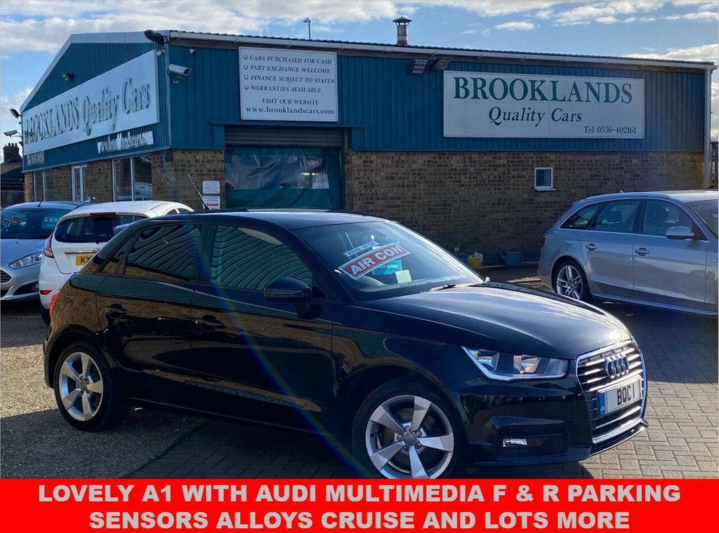 USED 2015 15 AUDI A1 1.4 SPORTBACK TFSI SPORT 5Door Brilliant Black 123 BHP Lovely A1 with Audi Multimedia F & R Parking Sensors Alloys Cruise and lots more