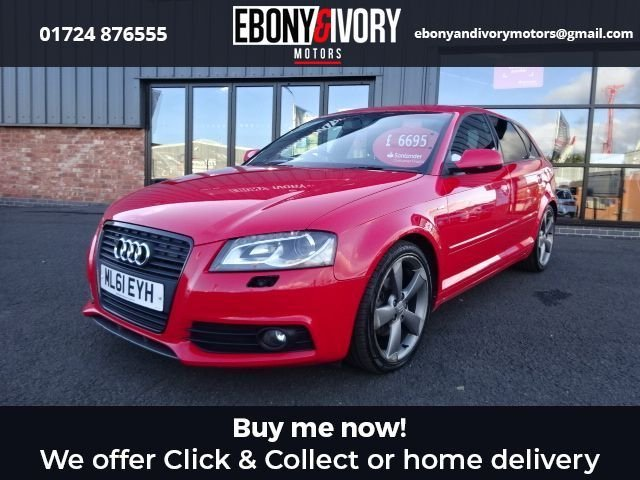 USED 2011 61 AUDI A3 2.0 SPORTBACK TDI S LINE SPECIAL EDITION 5d 138 BHP+HEATED SEATS+REAR PARKING SENSORS+CRUISE CONTROL FANTASTIC EXAMPLE+FULLY SERVICED+1 YEAR MOT+BREAKDOWN COVER