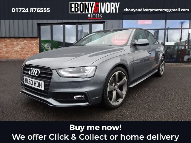 USED 2013 63 AUDI A4 2.0 TDI QUATTRO BLACK EDITION S/S 4d 174 BHP+BLUETOOTH+ALCANTRANTRA/LEATHER S LINE FULL AUDI SERVICE HISTORY + 1 YEAR MOT AND BREAKDOWN COVER