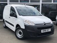 USED 2018 18 CITROEN BERLINGO 1.6 625 LX L1 VTI 3 Seat Panel Van with NO VAT TO PAY unbelievable Low Mileage. ULEZ compliant Recent Service & MOT. now Ready to Finance and Drive Away Today 1 Former Keeper