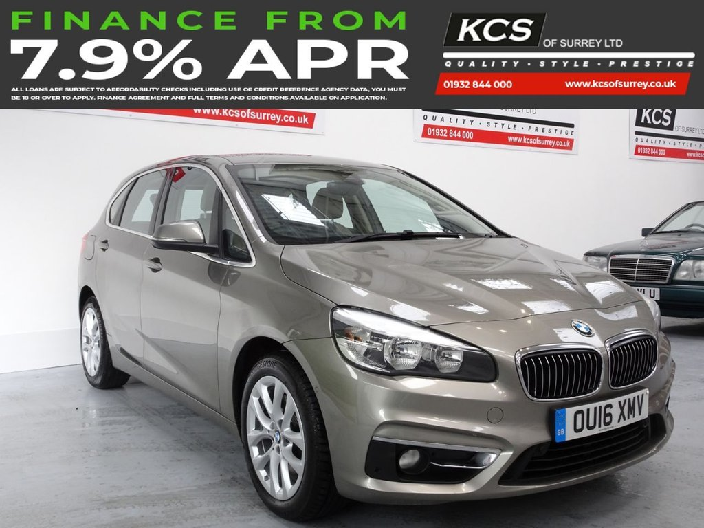 USED 2016 16 BMW 2 SERIES 1.5 218I LUXURY ACTIVE TOURER 5d 134 BHP NAV PLUS - HEAD UP - CAMERA