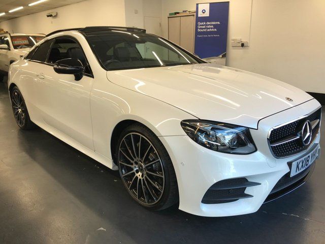 USED 2018 18 MERCEDES-BENZ E-CLASS 2.0 E 220 D AMG LINE PREMIUM PLUS 2d 192 BHP Widescreen 12.3in cockpit display, Night pack, 1 owner from new, Burmester sound system and much much more