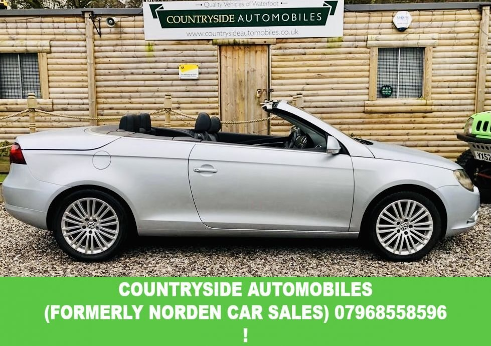 USED 2007 07 VOLKSWAGEN EOS 2.0 SPORT TDI 2d 138 BHP This has been my good ladys car for over 6 years and has wanted for nothing, full service history with recent new Turbo. serviced every year and all tyres superb, full leather, sat nav, power hood that works perfect. had the hood lubricated every year. looks and drives superb and are soon to become an aspiring classic. the new owner for this car will need to be vetted like that of a new dog owner, only applicants that intend to care for it need apply.