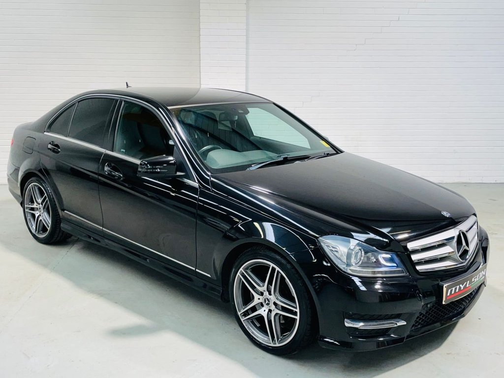 USED 2013 13 MERCEDES-BENZ C-CLASS 2.1 C250 CDI BLUEEFFICIENCY AMG SPORT 4d 202 BHP Low Mileage C250, AMG Pack, Black Heated Leather Interior