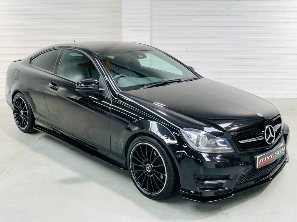 USED 2014 64 MERCEDES-BENZ C-CLASS 2.1 C220 CDI AMG SPORT EDITION 2d 168 BHP DUE IN.. Maxton Design Kit, Multispoke C63 Style Wheels, Blackout + Tints