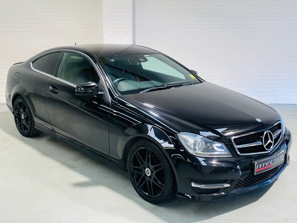 USED 2012 62 MERCEDES-BENZ C-CLASS 2.1 C250 CDI BLUEEFFICIENCY AMG SPORT PLUS 2d 202 BHP AMG Pack, Alcantara/Leather Interior with Red Stitching, Bluetooth Media, Xenons