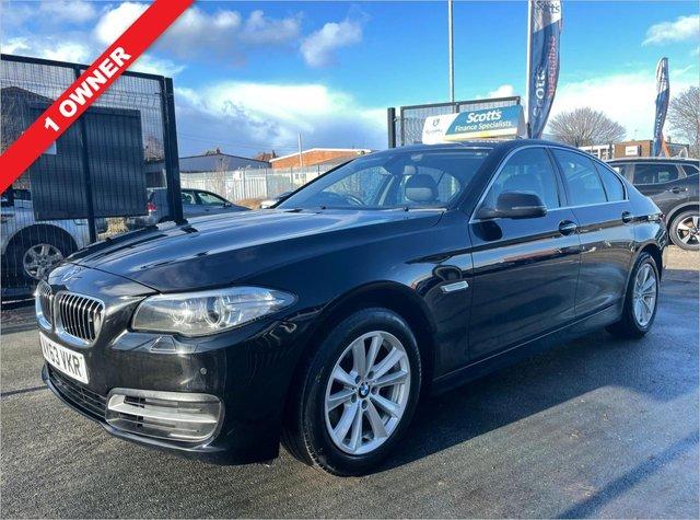 USED 2013 63 BMW 5 SERIES 2.0 520D SE 4 DOOR DIESEL BLACK 1 OWNER