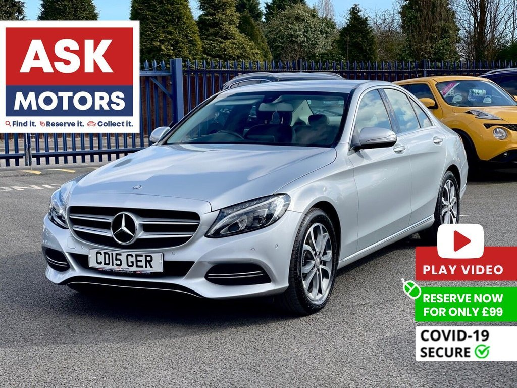 USED 2015 15 MERCEDES-BENZ C-CLASS 2.1 C220 BLUETEC SPORT 4d 170 BHP SATNAV REVERSE CAMERA BLUETOOTH HEATED FRONT SEATS