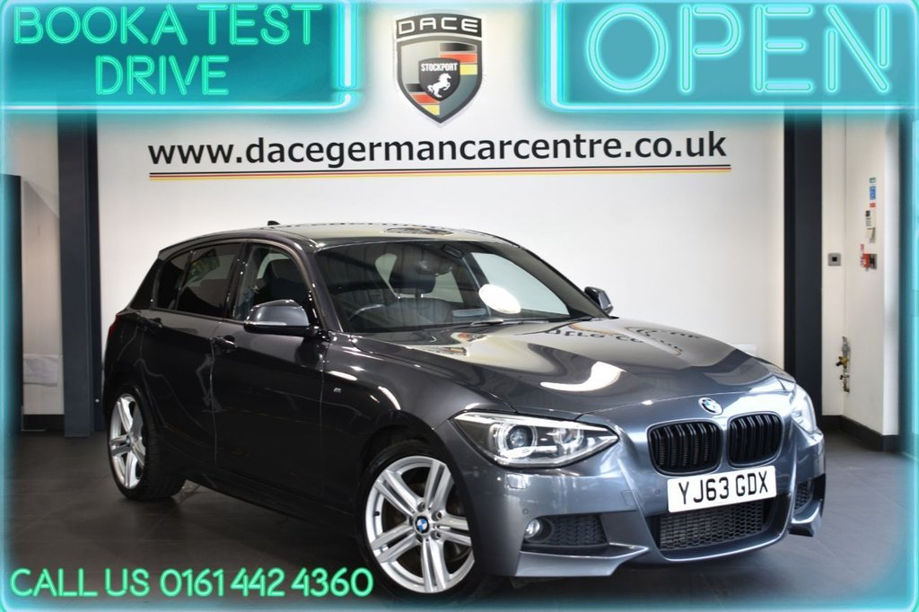 USED 2013 63 BMW 1 SERIES 2.0 120D M SPORT 5DR 181 BHP FULL HISTORY + LEATHER + HEATED SEATS + DAB + XENONS