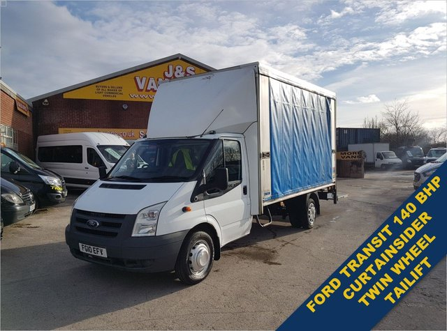 USED 2010 10 FORD TRANSIT 2.4 350 E/F DRW 140 CURTAINSIDER TAILIFT LOTS MORE BIG VANS IN STOCK ALL MODELS