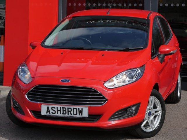 USED 2013 13 FORD FIESTA 1.2 ZETEC 5d 81 BHP £30 TAX, GOOD SERVICE HISTORY, CAMBELT + WATER PUMP CHANGED, RACE RED, BLUETOOTH PHONE W/ AUDIO STREAMING, USB & AUX INPUTS, COLOUR CODED EXTERIOR, HEATED FRONT & REAR SCREENS,FRONT FOGS, REPEATERS IN MIRRORS,15