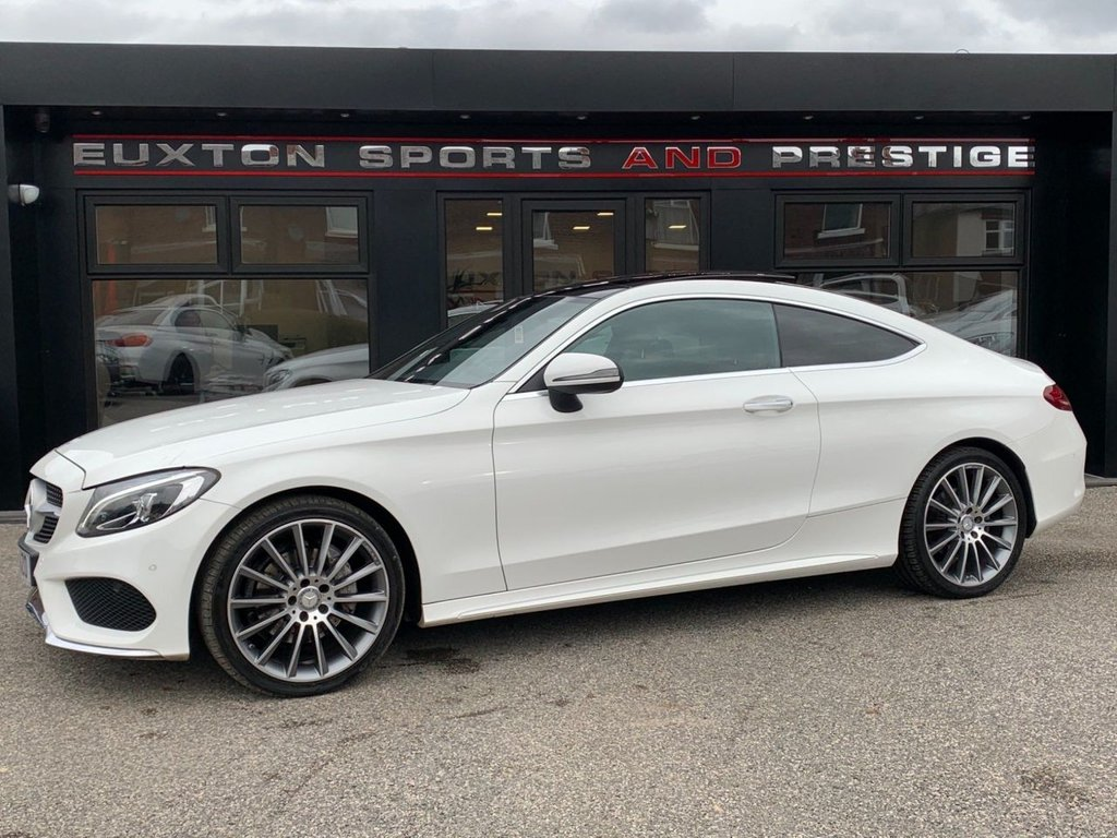USED 2016 16 MERCEDES-BENZ C-CLASS 2.1 C220d AMG Line (Premium) G-Tronic+ (s/s) 2dr PAN ROOF/19' ALLOYS