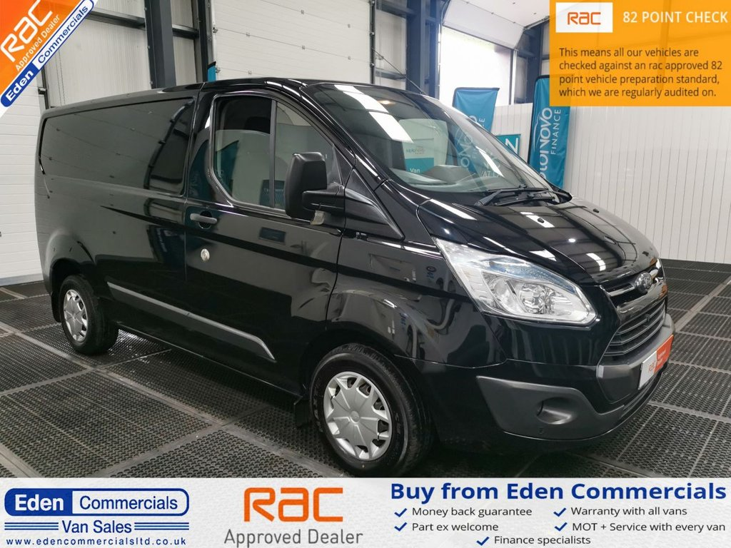 USED 2016 16 FORD TRANSIT CUSTOM 2.2 270 TREND 124 BHP * BLACK *