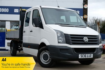 2016 VOLKSWAGEN CRAFTER 2.0 CR35 TDI DCB TIPPER 136 BHP DOUBLE CAB LOW MILEAGE £17950.00