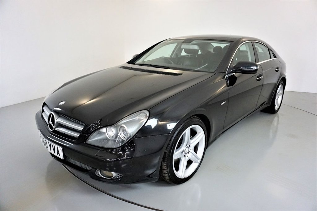USED 2010 60 MERCEDES-BENZ CLS-CLASS 3.0 CLS350 CDI GRAND EDITION 4d-2 FORMER KEEPERS-HEATED BLACK LEATHER-HARMAN KARDON-ELECTRIC MEMORY SEAT-ELECTRIC FOLDING MIRRORS-CRUISE CONTROL-SATNAV-PARKING SENSORS-CLIMATE CONTROL
