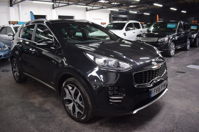 USED 2016 16 KIA SPORTAGE 2.0 CRDI GT-LINE 5d 134 BHP AWD 4X4  GREAT VALUE 2016 GT LINE 2.0 CRDI AWD 4X4 - ONE OWNER - FULL HISTORY - LEATHER - NAVC - REVERSE CAM - HEATED SEATS FRONT AND REAR