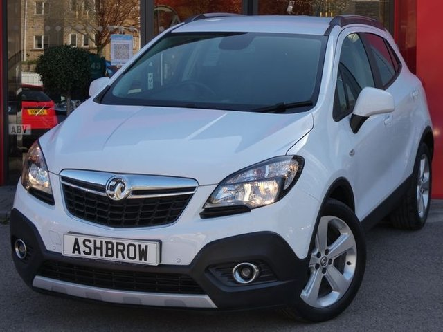 USED 2015 15 VAUXHALL MOKKA 1.4 EXCLUSIV S/S 5d 138 BHP UPGRADE SUMMIT WHITE, FULL VAUXHALL SERV HIST, FRONT + REAR PARKING SENSORS, CRUISE CONTROL + SPEED LIMITER, PRIVACY TINTED REAR GLASS, USB + AUX IN, DAB RADIO, ELECTRICALLY ADJUSTABLE POWER FOLDING DOOR MIRRORS, HALOGEN DRLS, DUAL CLIMATE A/C, GREY CLOTH INT, LEATHER MULTI FUNCTION STEEERING WHEEL, FRONT CENTRE ARM REST, FRONT FOGS, RUBBER