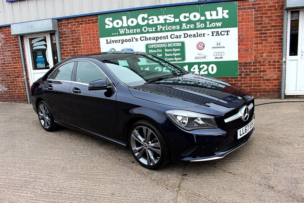 USED 2017 67 MERCEDES-BENZ CLA 1.6 CLA 180 SPORT 4d 121 BHP +HALF LEATHER +SAT NAV.