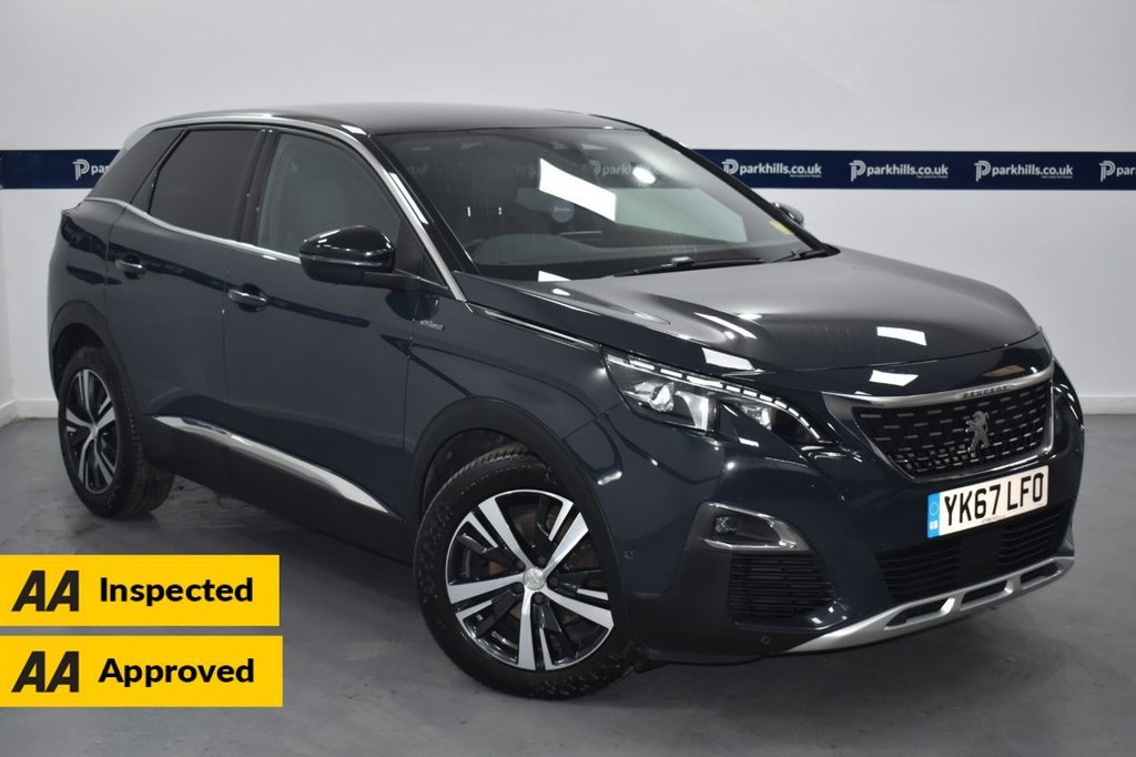 USED 2017 67 PEUGEOT 3008 1.6 BLUEHDI S/S GT LINE 5d 120 BHP (ONE OWNER -SAT NAV -BLUETOOTH)
