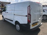 USED 2016 66 FORD TRANSIT CUSTOM 2.0 270 3 Seat Low Roof Panel Van104 BHP with Side Loading Door Recent Service plus MOT. New Front Brakes & Battery. Now Ready to Finance and Drive Away Today One Registered Keeper
