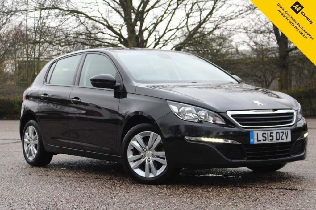USED 2015 15 PEUGEOT 308 1.2 PURETECH S/S ACTIVE 5d 110 BHP ** FULL MAIN DEALER SERVICE HISTORY ** BRAND NEW SERVICE COMPLETED MARCH 2022 ** SAT NAV ** REAR PARKIG AID ** CRUISE CONTROL ** CLIMATE CONTROL ** BLUETOOTH + USB + DAB ** AUTO LIGHTS + WIPERS ** ULEZ CHARGE EXEMPT ** £20 ROAD TAX 60+ MPG ** CLICK & COLLECT + NATIONWIDE DELIVERY AVAILABLE ** BUY ONLINE IN CONFIDENCE FROM A MULTI AWARD WINNING 5* RATED DEALER **