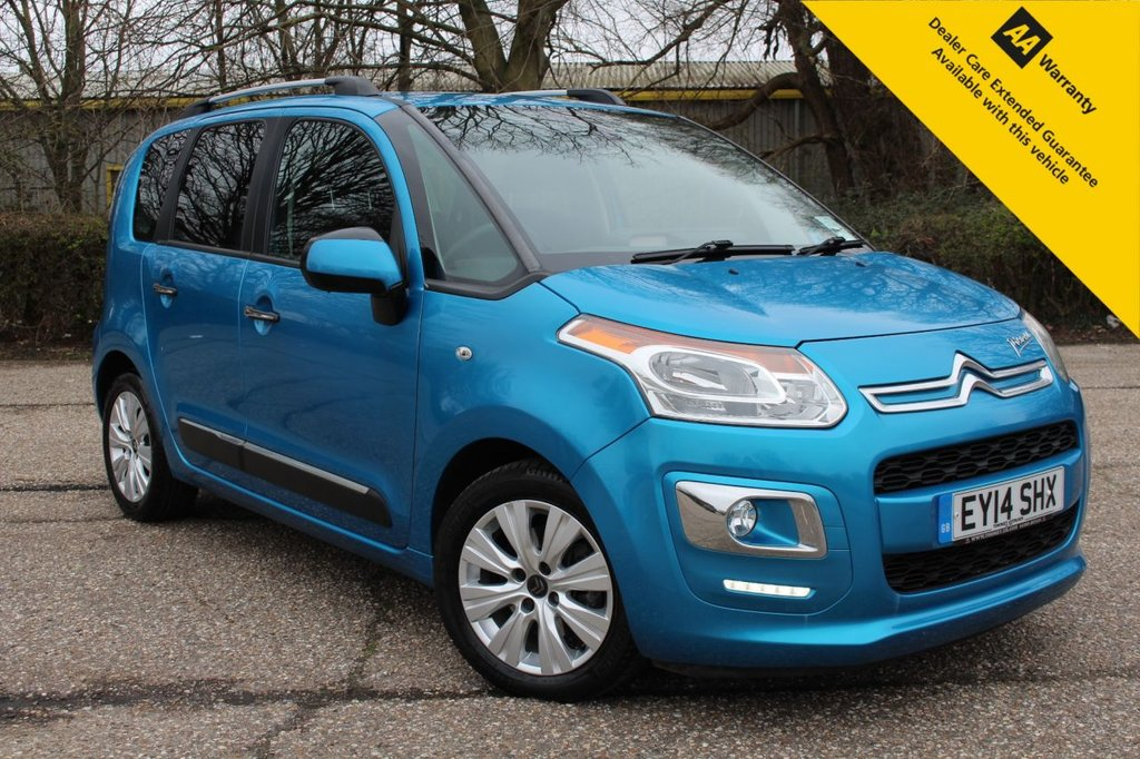 USED 2014 14 CITROEN C3 PICASSO 1.6 EXCLUSIVE HDI 5d 115 BHP ** 1 OWNER FROM NEW ** FULL MAIN DEALER SERVICE HISTORY ** BRAND NEW ADVISORY FREE MOT - EXPIRY MARCH 2022 ** REAR PARKING AID ** CRUISE CONTROL ** CLIMATE CONTROL ** BLUETOOTH ** AUTO LIGHTS + WIPERS ** POWER FOLD MIRRORS ** £30 ROAD TAX - 61MPG ** CLICK & COLLECT + NATIONWIDE DELIVERY AVAILABLE ** BUY ONLINE IN CONFIDENCE FROM A MULTI AWARD WINNING 5* RATED DEALER **