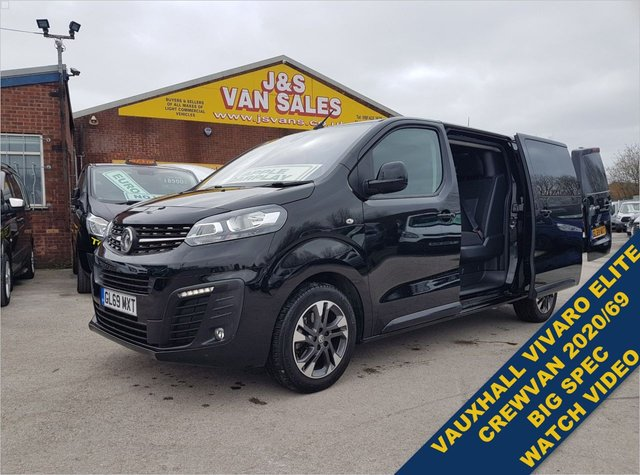 USED 2020 69 VAUXHALL VIVARO 2.0 L2H1 3100 ELITE S/S D CAB 2020/69 REG BIG SPEC  BIG SPEC VAN WATCH FULL H/D VIDEO 2020/69 REG