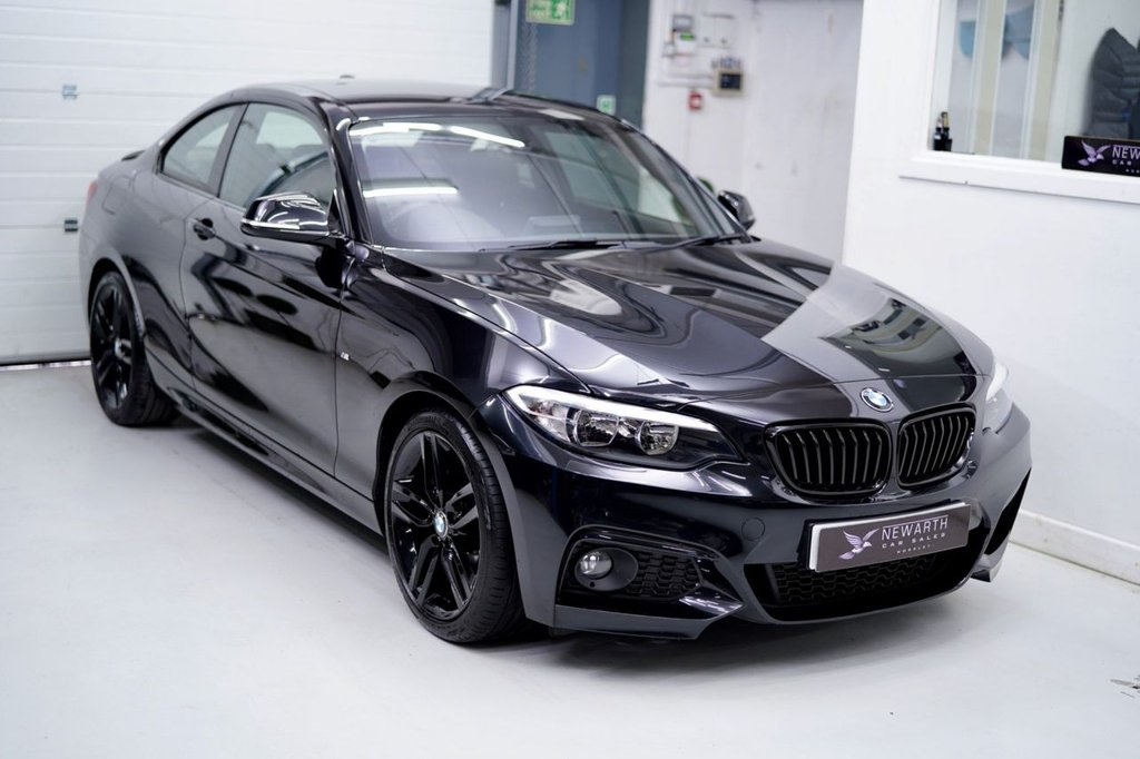 USED 2016 66 BMW 2 SERIES 2.0 218d M Sport Auto (s/s) 2dr Triple Black | Heated Seats
