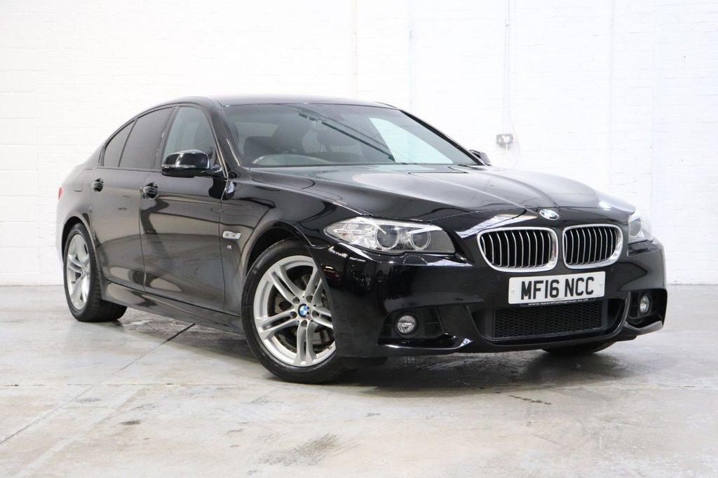 USED 2016 16 BMW 5 SERIES 2.0 520D M SPORT 4d 188 BHP Satnav + Cruise + Parking Aid + Dab