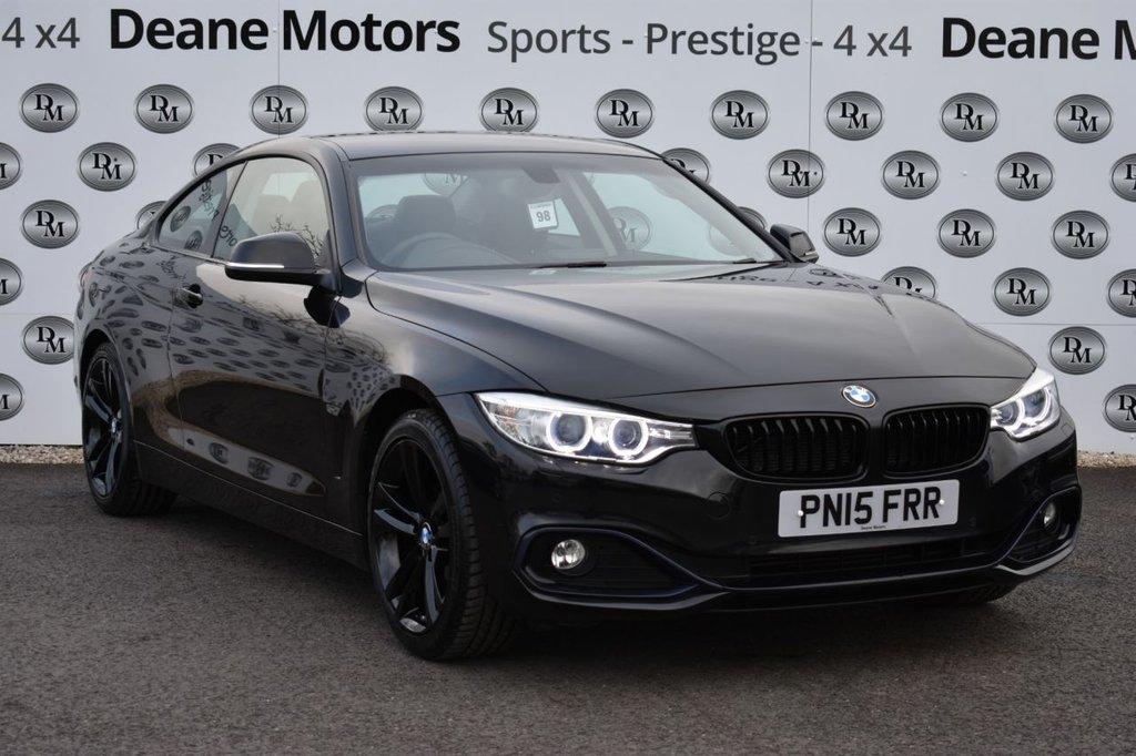 USED 2015 15 BMW 4 SERIES 2.0 420I SPORT 2d 181 BHP BLACK PACK