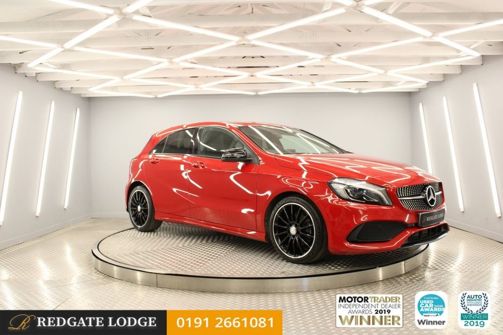 "USED 2015 65 MERCEDES-BENZ A-CLASS 2.1 A 200 D AMG LINE PREMIUM 5d 134 BHP NIGHT PACK, 18"" AMG ALLOYS, SAT/NAV, PRIVACY GLASS..."