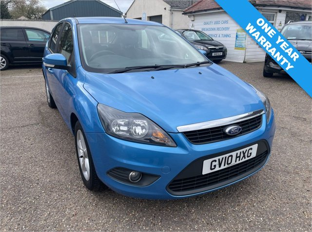 USED 2010 10 FORD FOCUS 1.6 ZETEC 5d 100 BHP ONE YEAR WARRANTY INCLUDED /  ONE OWNER CAR / FULL HISTORY X 10 SERVICE STAMPS