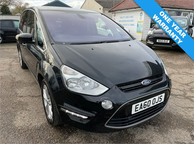 USED 2010 60 FORD S-MAX 2.0 TITANIUM TDCI 5d 138 BHP ONE YEAR WARRANTY INCLUDED / FULL FORD SERVICE HISTORY