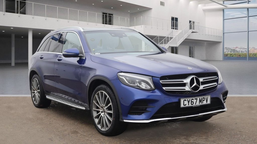 USED 2017 67 MERCEDES-BENZ GLC-CLASS 2.1 GLC 250 D 4MATIC AMG LINE PREMIUM PLUS 5d AUTO 201 BHP +PANO ROOF +AMBIENT LIGHTS.