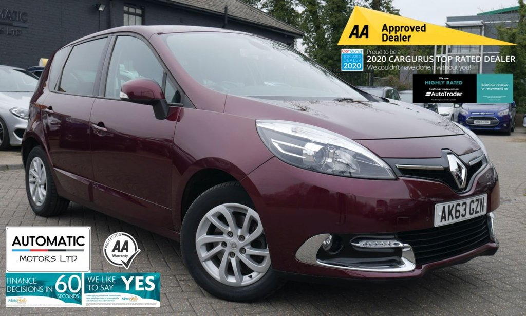 USED 2013 63 RENAULT SCENIC 1.2 DYNAMIQUE TOMTOM ENERGY TCE S/S 5d 130 BHP 2013 RENAULT SCENIC 1.2 DYNAMIQUE  2KEYS 1 FORMER KEEPER AUX/USB CRUISE CONTROL NAVIGATION BLUETOOTH CLIMATE CONTROL