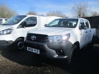 USED 2016 66 TOYOTA HI-LUX 2.4 ACTIVE 4WD D-4D DCB 5d 150 BHP 2016 66 toyota hilux 4x4 active crew cab very low miles @17,000
