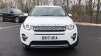 USED 2017 17 LAND ROVER DISCOVERY SPORT 2.0 TD4 HSE 5d 7 Seat Family SUV 4x4 AUTO with Great High Spec inc Panoramic Glass Roof Heated Leather Seats Sat Nav DAB Digital Radio Bluetooth Stunning in White and Lovely Low Mileage