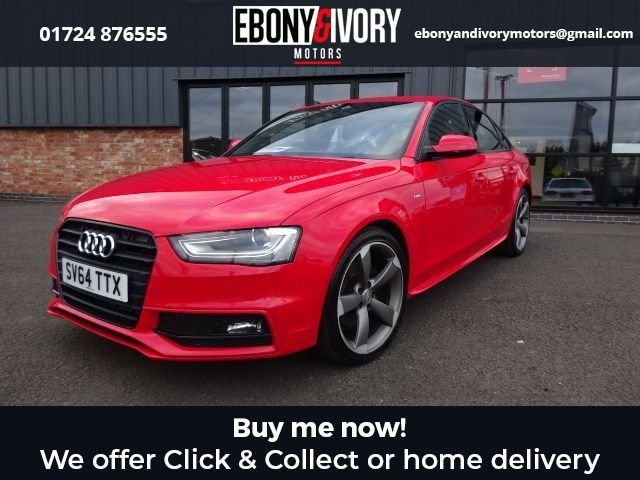 USED 2014 64 AUDI A4 2.0 TDI BLACK EDITION 4d 148 BHP+BLUETOOTH+AUDI PARKING SYSTEM PLUS FULL AUDI SERVICE HISTORY + 1 YEAR MOT AND BREAKDOWN COVER