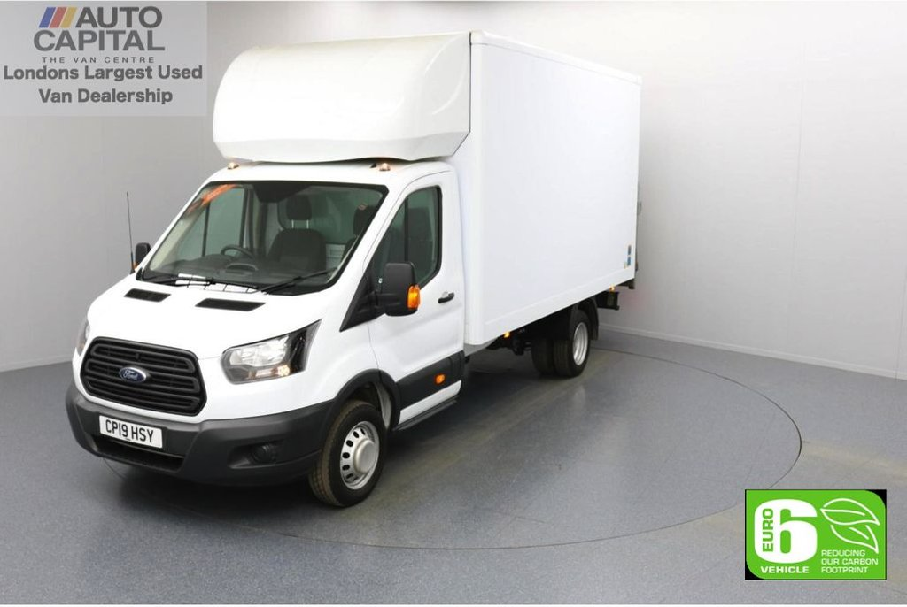 USED 2019 19 FORD TRANSIT 2.0 350 RWD Twin Wheels L4 X-LWB 130 BHP Low Emission Luton Finance Available Online | Rear Tail Lift Fitted | Twin Wheels | RWD