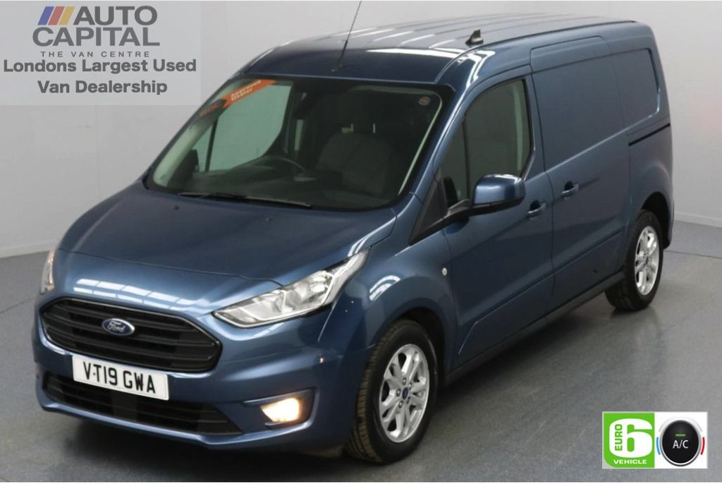 USED 2019 19 FORD TRANSIT CONNECT 1.5 240 Limited EcoBlue 120 BHP L2 LWB 2 Seats Low Emission Keyless | Air Con | R. Sensors | Alloy wheels | Auto Start-Stop system