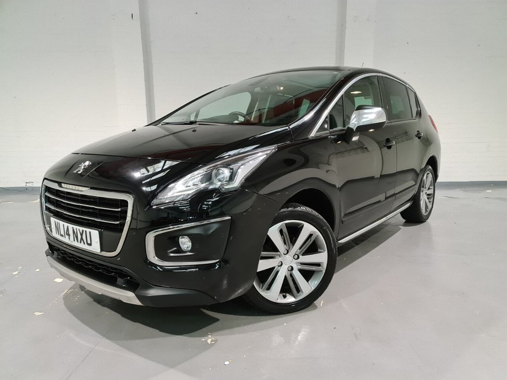 USED 2014 14 PEUGEOT 3008 1.6 E-HDI ALLURE 5d 115 BHP AA approved dealer, Half leather upholstery, Sat Nav, Heads up display, Panoramic sunroof, Bluetooth, Front and rear parking sensors, Electric folding door mirrors, Cruise control, Multifunction steering wheel, 2 Keys