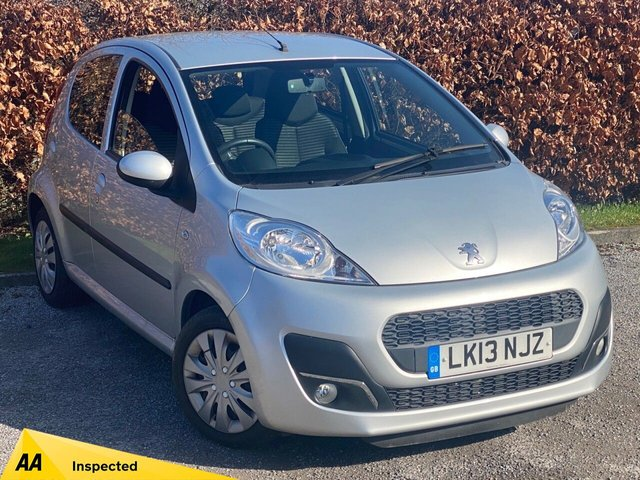 USED 2013 13 PEUGEOT 107 1.0 ACTIVE 5d FULL MAIN DEALER SERVICE HISTORY, 12 MONTHS MOT, AUTOMATIC, LOW MILEAGE, AUTOMATIC