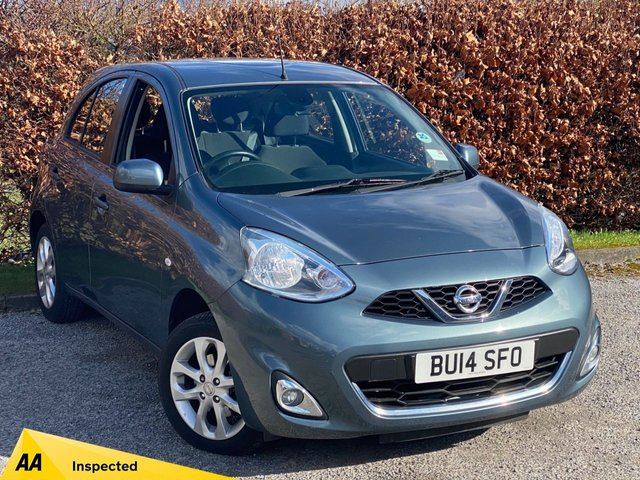 USED 2014 14 NISSAN MICRA 1.2 ACENTA 5d FULL NISSAN SERVICE HISTORY, LOW MILEAGE, SAT NAV, BLUETOOTH, CRUISE CONTROL, REAR PARKING SENSORS