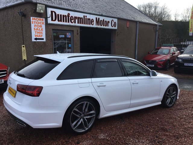 USED 2016 16 AUDI A6 2.0 AVANT TDI ULTRA BLACK EDITION 5d 188 BHP ++STUNNING IN WHITE +LOW MILEAGE++