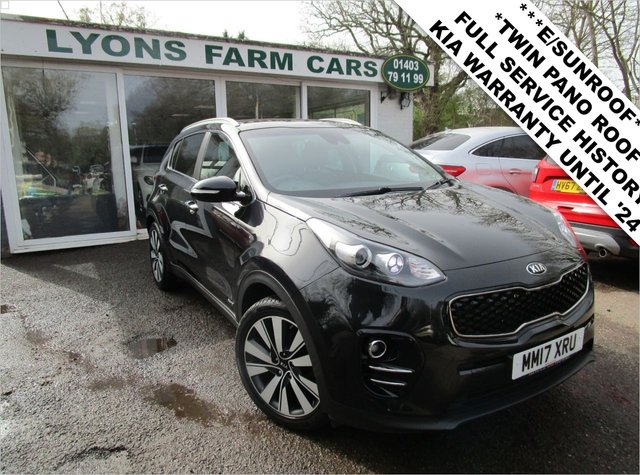 USED 2017 17 KIA SPORTAGE 2.0 CRDI KX-3 AWD 5d 134 BHP ALL WHEEL DRIVE *ELECTRIC SUNROOF* *Optional extra Electric Sunroof* Full Service History (Kia + ourselves), One Owner, NEW MOT, Balance of Kia Manufacturer Warranty until July 2024 / 100,000 miles!