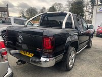 USED 2015 65 VOLKSWAGEN AMAROK 2.0 DC TDI ULTIMATE 4MOTION 4dr 5 Seat Double Cab Pickup 4x4 AUTO with NO VAT TO PAY and Great Value for Money. Roll Top Canopy, Tow Bar, Sat Nav, Radio, Bluetooth, Front & Rear Parking Sensors, Rear Camera, Auto Lights, Cruise Control & Heated Front Seats.  1 Former Keeper