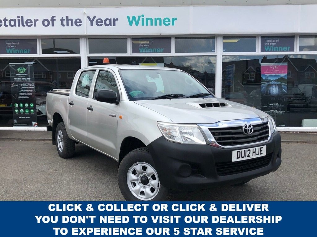 USED 2012 12 TOYOTA HI-LUX 2.5 HL2 4X4 D-4D 4dr 5 Seat Double Cab Pickup Great Value for Money NO VAT TO PAY and in Fantastic Condition Recent Service plus MOT now Ready to Finance and Drive Away Full Service History... Great Value for Money!